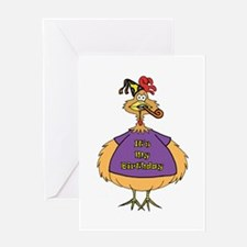 Birthday Suit Chicken Greeting Card