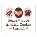 Peace Love English Cocker Spaniel Small Poster