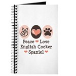 Peace Love English Cocker Spaniel Journal