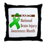 Brain Injury Month Throw Pillow
