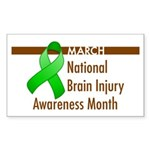 Brain Injury Month Rectangle Sticker