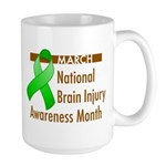 Brain Injury Month Large Mug