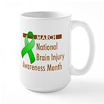 Brain Injury Month Large Mug