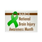 Brain Injury Month Rectangle Magnet