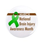 "Brain Injury Month 3.5"" Button"