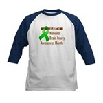 Brain Injury Month Kids Baseball Jersey