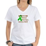 Brain Injury Month Women's V-Neck T-Shirt