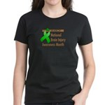 Brain Injury Month Women's Dark T-Shirt