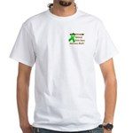 Pocket Brain Injury Month White T-Shirt
