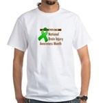 Brain Injury Month White T-Shirt