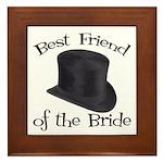 Top Hat Bride's Best Friend Framed Tile
