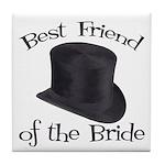 Top Hat Bride's Best Friend Tile Coaster