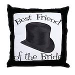 Top Hat Bride's Best Friend Throw Pillow