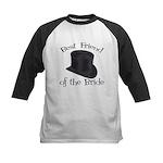 Top Hat Bride's Best Friend Kids Baseball Jersey