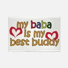 Baba is My Best Buddy Rectangle Magnet