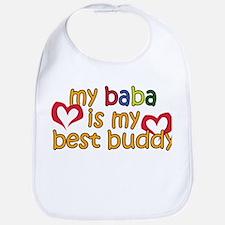 Baba is My Best Buddy Bib