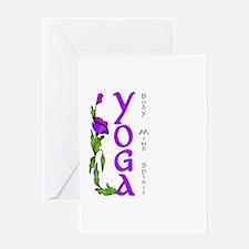 Yoga- Body, Mind and Spirit Greeting Card