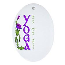 Yoga- Body, Mind and Spirit Oval Ornament