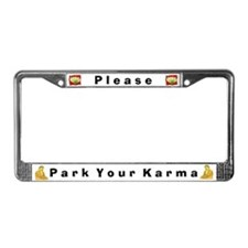 Please Park Your Karma #4 License Plate Frame