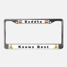 Buddha Knows Best #4 License Frame