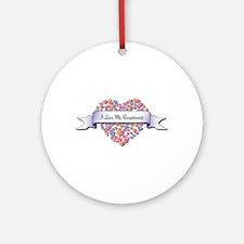 Love My Receptionist Ornament (Round)