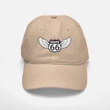 Winged Rte. 66 Baseball Baseball Cap