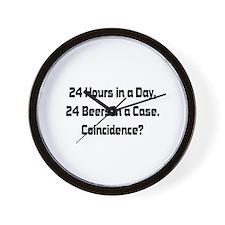 24 Beer Wall Clock