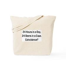 24 Beer Tote Bag