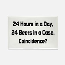 24 Beer Rectangle Magnet