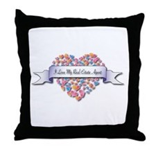 Love My Real Estate Agent Throw Pillow