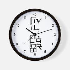 Civil Engineer Character Wall Clock