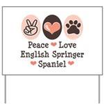 Peace Love Springer Spaniel Yard Sign