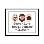 Peace Love Springer Spaniel Framed Panel Print