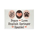 Peace Love Springer Spaniel Rectangle Magnet