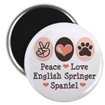 Peace Love Springer Spaniel Magnet