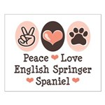 Peace Love Springer Spaniel Small Poster
