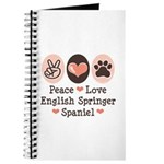 Peace Love Springer Spaniel Journal