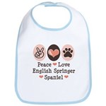 Peace Love Springer Spaniel Bib