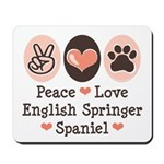Peace Love Springer Spaniel Mousepad