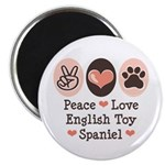 Peace Love Toy Spaniel Magnet