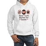 Peace Love Toy Spaniel Hooded Sweatshirt