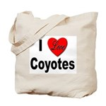 I Love Coyotes Tote Bag