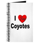 I Love Coyotes Journal