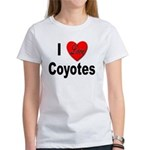 I Love Coyotes (Front) Women's T-Shirt