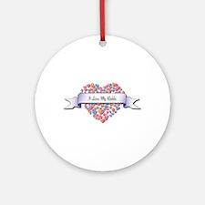 Love My Rabbi Ornament (Round)