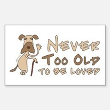 Senior Dog Adoption Rectangle Decal