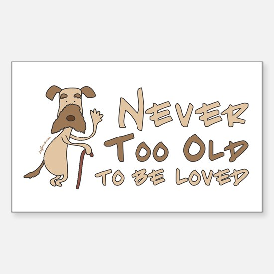 Senior Dog Adoption Rectangle Decal