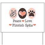 Peace Love Finnish Spitz Yard Sign