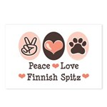 Peace Love Finnish Spitz Postcards (Package of 8)