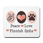 Peace Love Finnish Spitz Mousepad
